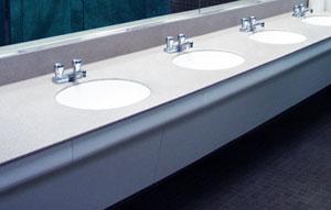Solid surface bathroom vanity tops