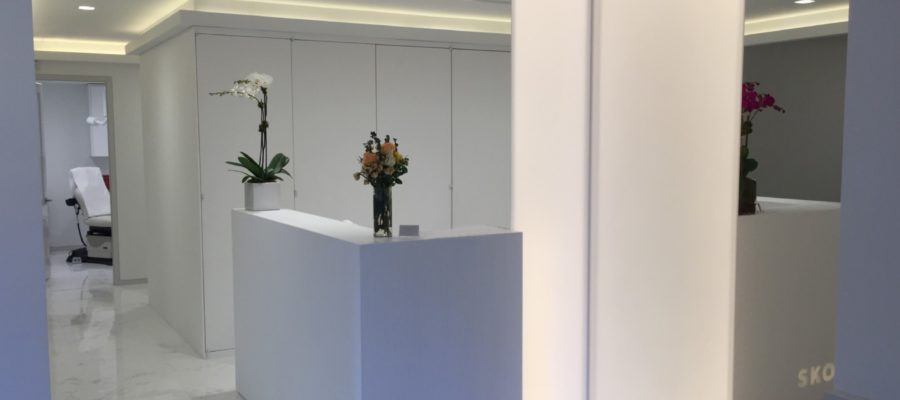 Solid surface interior of NYC doctor's office