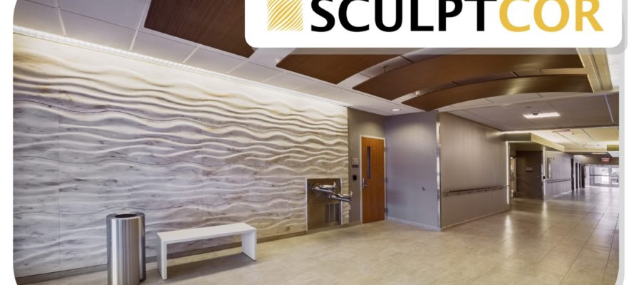 SCULPTCOR wall cladding at Susquehanna Health