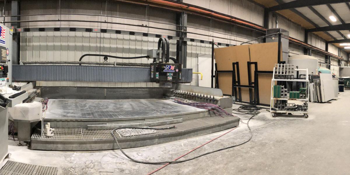 Commercial Quartz Fabrication Shop